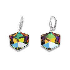 Earrings Swarovski Crystals multicolour