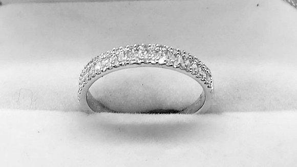9ct White Gold Diamond Wedding Band