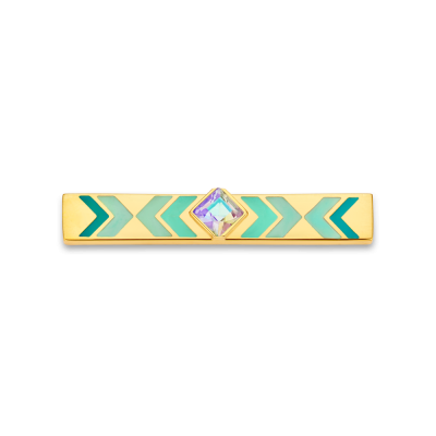 Gypset Turquoise and Gold Toned Bar