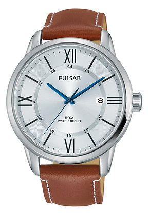Light Brown Leather Pulsar Watch