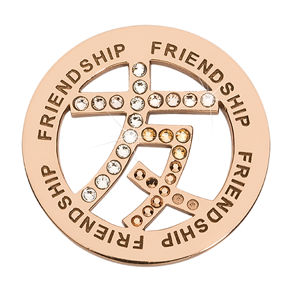 Rose Gold Chinese Sign for Friendship