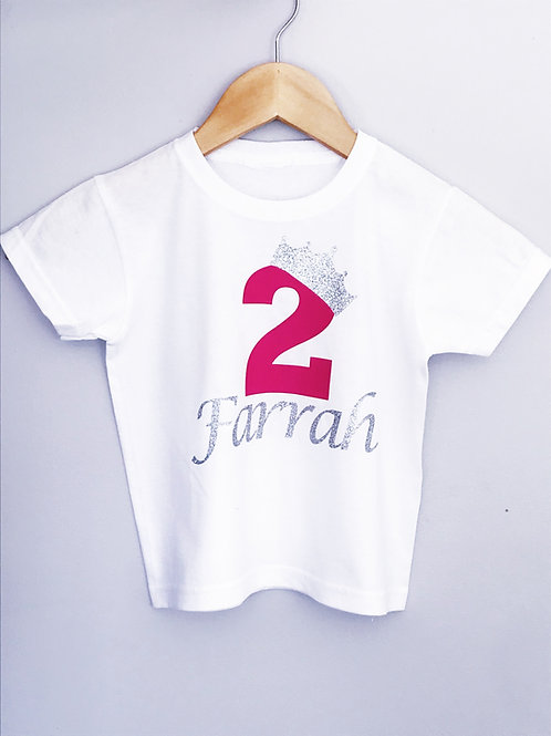 Personalised Kids Birthday T-Shirt