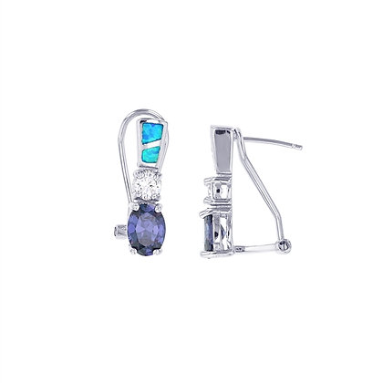 2 Pieces Opal Amethyst Oval Cut Set
