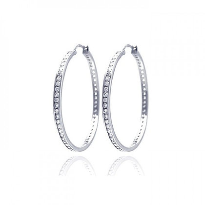 35mm Large CZ Hoops (White, Yellow, Rose)
