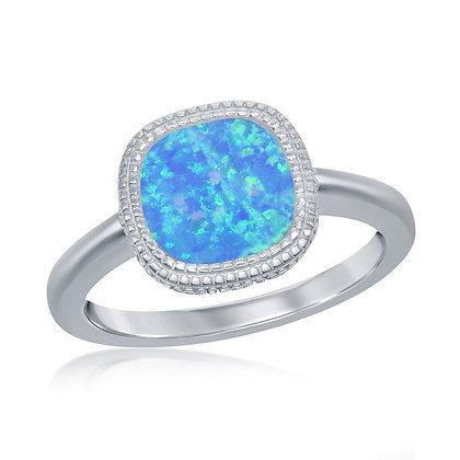Blue Opal In-Lay Ring