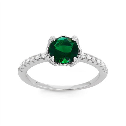Small Emerald Ring,