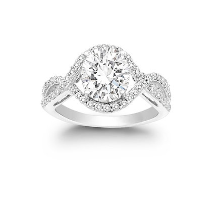 Brilliant Solitaire with Infinity Pave