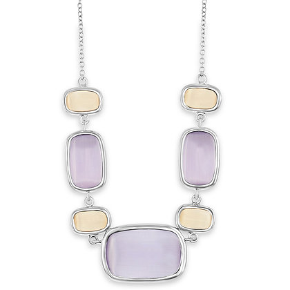 Cats Eye Multi-Stone Lavender and Nude