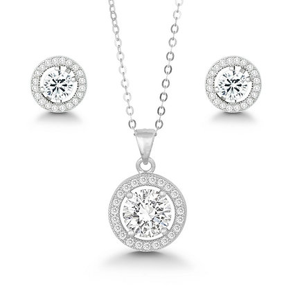 Pave Halo Set with Studs