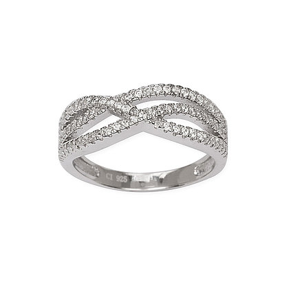 Micro Pave Link Ring