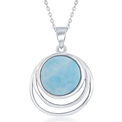 Larimar Triple Circle Necklace