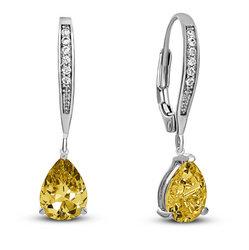 Yellow Sapphire Earrings