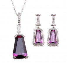 Amethyst Tapered Set, 16ctw