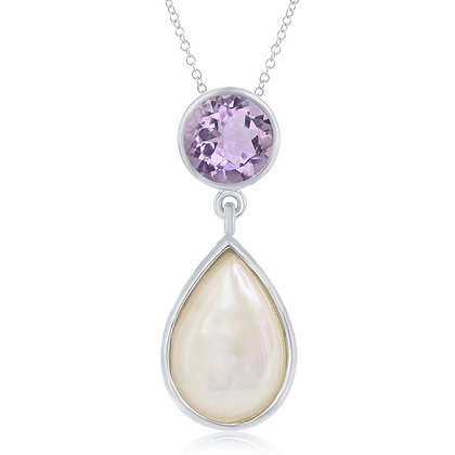 Pearl ad Amethyst Necklace