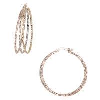 Tri Color Diamond Cut Earring