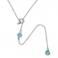 Drop Necklace- Aqua or Pink