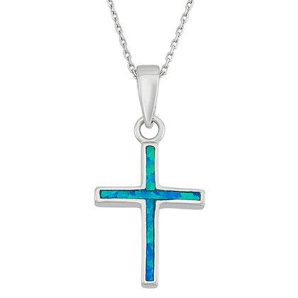 Blue Opal Cross