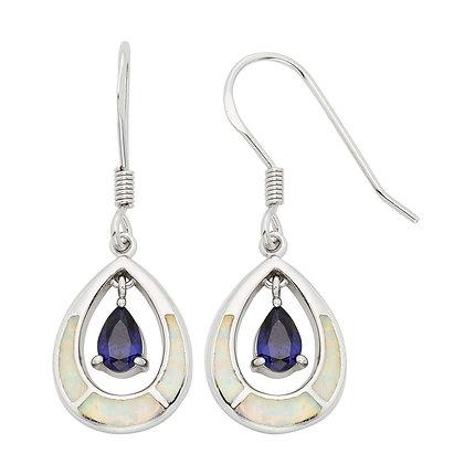 White Opal and Mystic Topaz Earrings