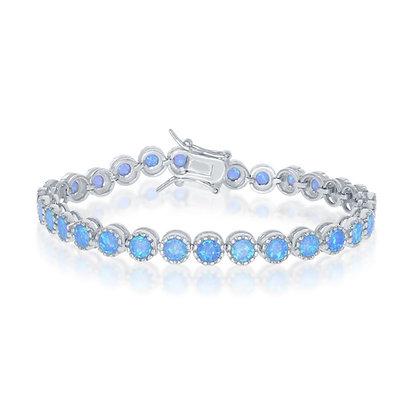 Blue Opal Crown Set Tennis