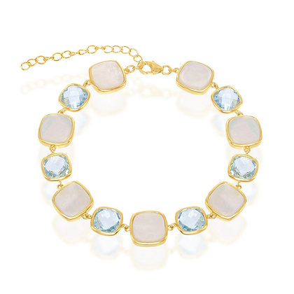 Yellow Gold Cat's Eye Bracelet