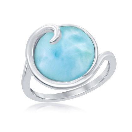 Larimar Ring, Swirl