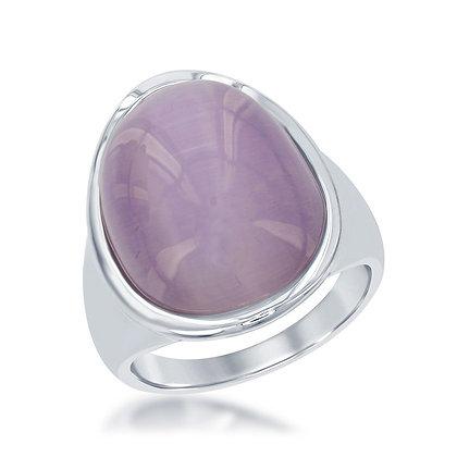 Cat's Eye Ring, Lavender