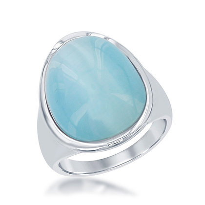 Cat's Eye Ring, Aqua