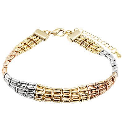 Tri-Color Bar Bracelet