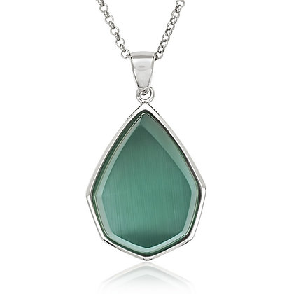 King Green Cats Eye, Necklace