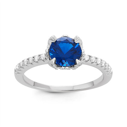 Blue Sapphire Ring, Small