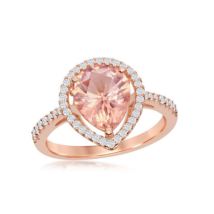 Morganite Ring, Teardrop
