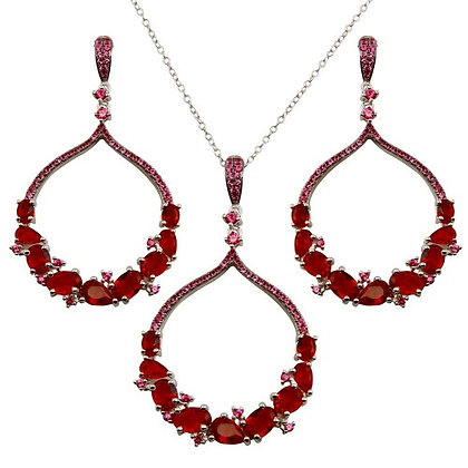 Lab Created Ruby/ Emerald Set,