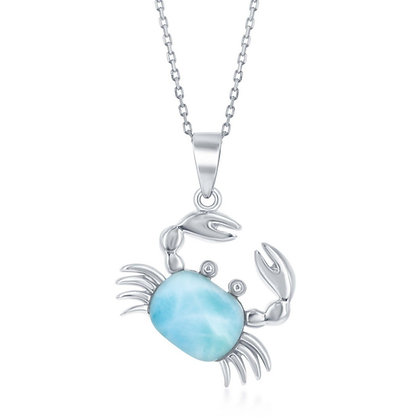 Larimar Crab Necklace