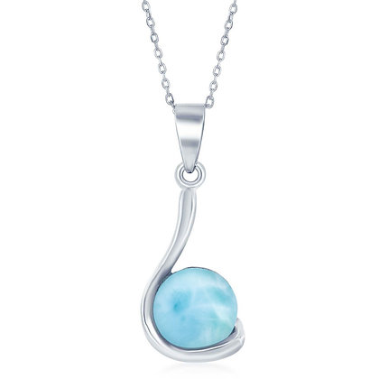 Larimar Swirl Necklace and Earring