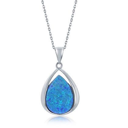 Blue Opal Teardrop Set