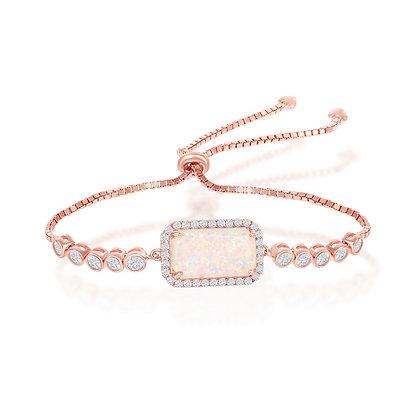 White Opal Bracelet, Rose