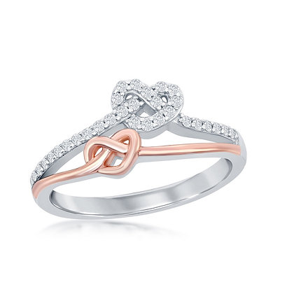 Two-Tone Rose Knot Ring