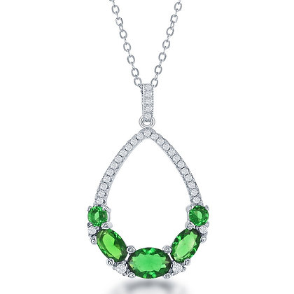 Emerald Oval Cut Deluxe Necklace