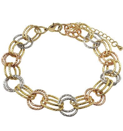 Tri-Color Multi-Circle Bracelet