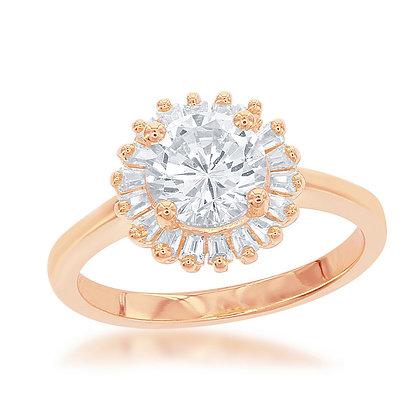 Sunburst Ring, Rose Gold