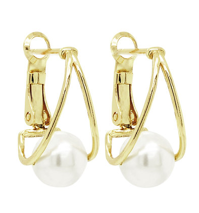 Fresh Water Pearl Omega Back Earrings