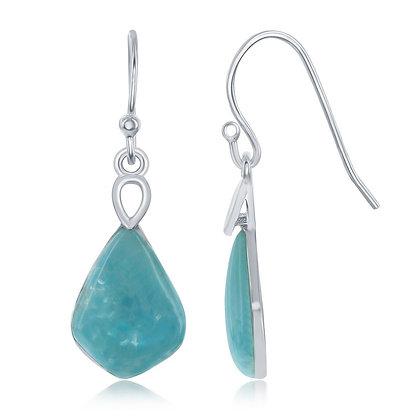 Royal Larimar Dangle Earrings