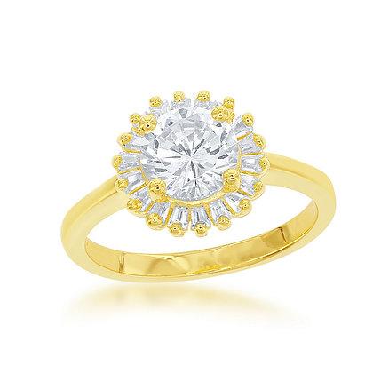 Sunburst Ring, Yellow Gold
