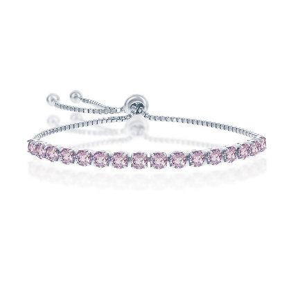 Pink Sapphire adjustable Tennis