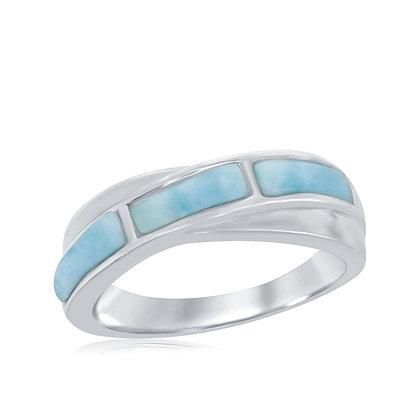 Larimar Bar Ring