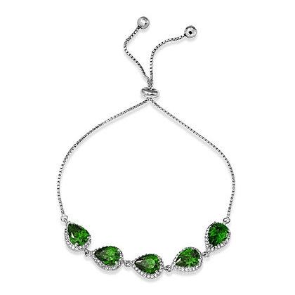 Emerald Pear Cut Turkish Clasp