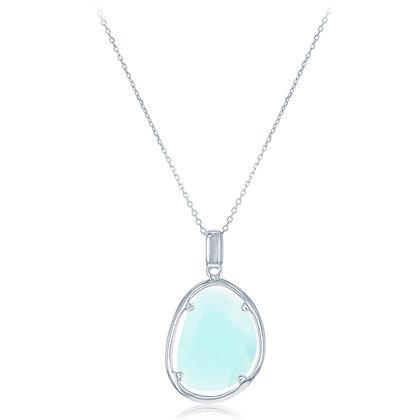 Aqua Cat's Eye Necklace