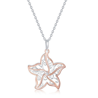 Star Fish Filigree Necklace