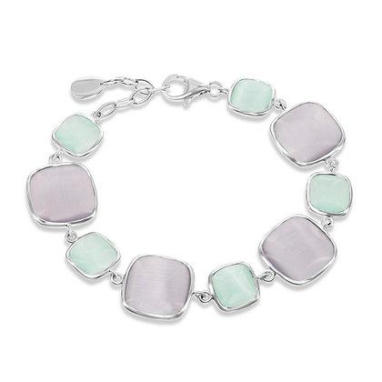 Lavender and Sea-foam Cats Eye Bracelet