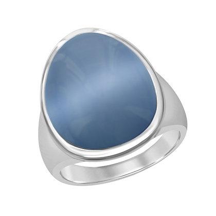 Cats Eye Ring, Denim